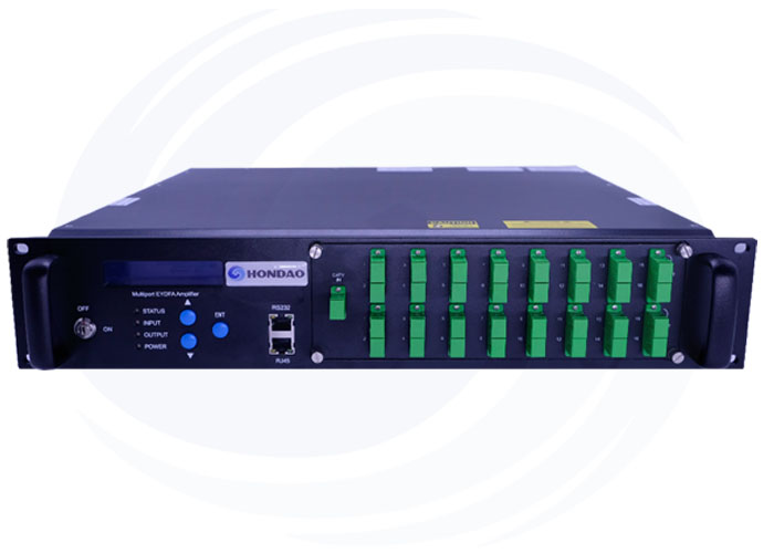 16 Port Built-in WDM Optical Amplifier