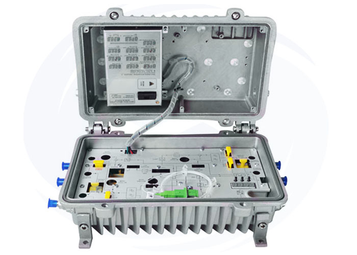 4 output ports Optical Node with AGC 1mW return path